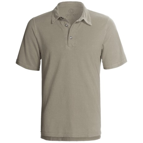 Gramicci Tirreno Polo Shirt - Hemp-Organic Cotton, Short Sleeve (For Men) in Cloudburst