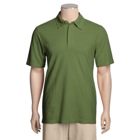 Gramicci Tirreno Polo Shirt - Hemp-Organic Cotton, Short Sleeve (For Men) in Green Thumb