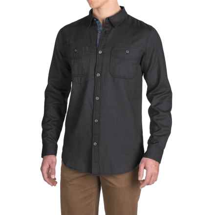 Gramicci Twill Flannel Shirt - Long Sleeve (For Men) in Dark Shadow Grey - Closeouts