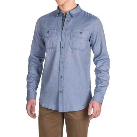 Gramicci Twill Flannel Shirt - Long Sleeve (For Men) in Dutch Blue - Closeouts