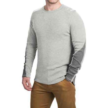 Gramicci Tyler Color-Block Thermal Shirt - Crew Neck, Long Sleeve (For Men) in Grey Heather - Closeouts