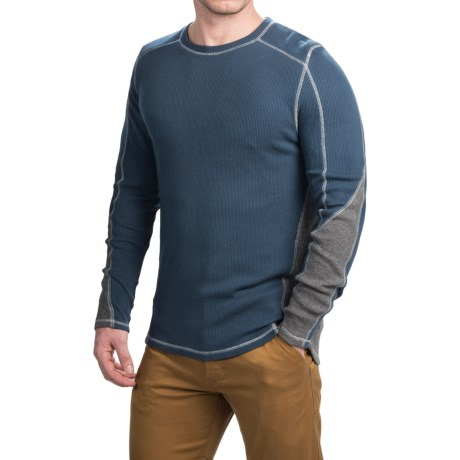Gramicci Tyler Color Block Thermal Shirt Crew Neck, Long Sleeve (For Men)