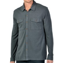 Gramicci Tyrol Hemp-Organic Cotton Shirt - UPF 20, Long Sleeve (For Men) in Carbon Grey - Closeouts
