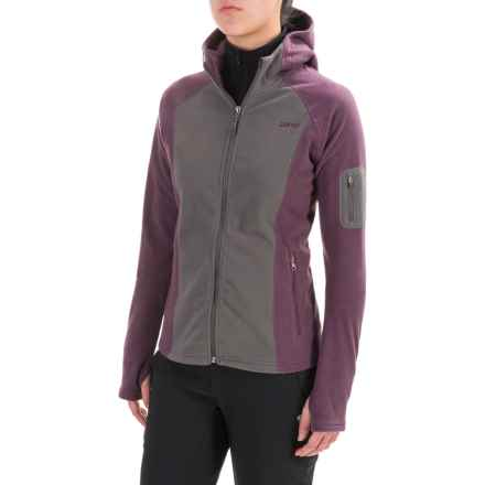 Gramicci Utility Microfleece Jacket (For Women) in Asphalt Grey/Purple Rein - Closeouts