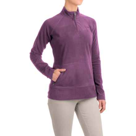 Gramicci Utility Zip Neck Fleece Shirt - Long Sleeve (For Women) in Purple Rein - Closeouts