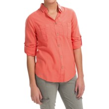 Gramicci Venice Newport Shirt - Long Sleeve (For Women) in Poppy Orange - Closeouts