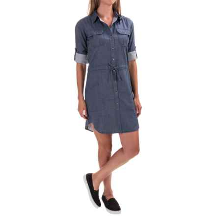 Gramicci Ventura Chambray Shirt Dress - Long Sleeve (For Women) in Indigo - Closeouts