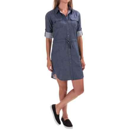 Gramicci Ventura Chambray Shirtdress - Long Sleeve (For Women) in Indigo - Closeouts