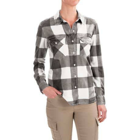 Gramicci Venture Out Shirt - Long Sleeve (For Women) in Winter White
