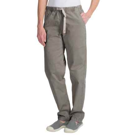 Gramicci Vintage G Orphia Pants - Built-In Grey Belt, Stretch Cotton Twill (For Women) in Shale - Closeouts