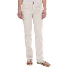 Gramicci Violet Pants - Peached Twill, Bootcut (For Women) in Jet Stream White - Closeouts