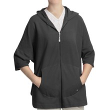Gramicci Wakana Oversized Hoodie Sweater - French Terry (For Women) in Jet Black - Closeouts
