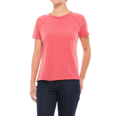Gramicci Weekend Raglan T-Shirt - Short Sleeve (For Women) in Fiery Red