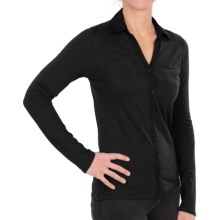 Gramicci Willow Shirt - UPF 50, Hemp-Organic Cotton, Long Sleeve (For Women) in Onyx Black - Closeouts
