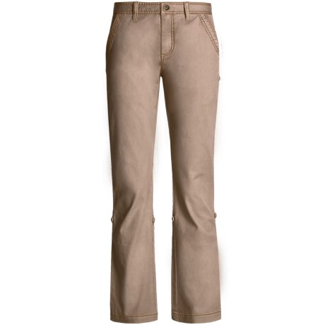 Gramicci Yoshu Pants - Diamond Twill, Roll-Up Cuffs (For Women) in Tawn Port