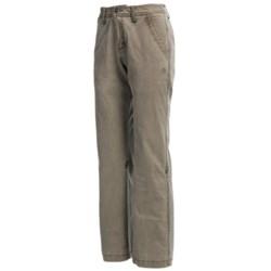 Gramicci Yoshu Pants - Diamond Twill, Roll-Up Cuffs (For Women) in Tawn Port