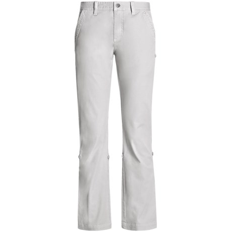 Gramicci Yoshu Pants - Diamond Twill, Roll-Up Cuffs (For Women) in Jet Stream White