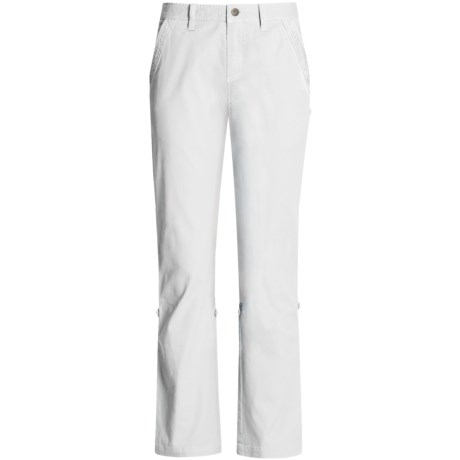 Gramicci Yoshu Pants - Diamond Twill, Roll-Up Cuffs (For Women) in Star White