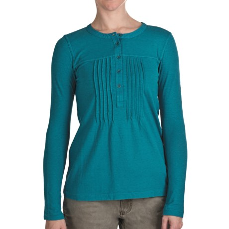 Gramicci Zara Henley Shirt - UPF 50, Long Sleeve (For Women) in Biscay Bay