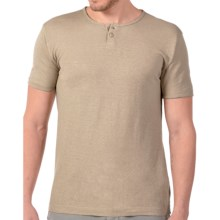 Gramicci Zeke Henley Shirt - UPF 20, Short Sleeve (For Men) in Beige - Closeouts