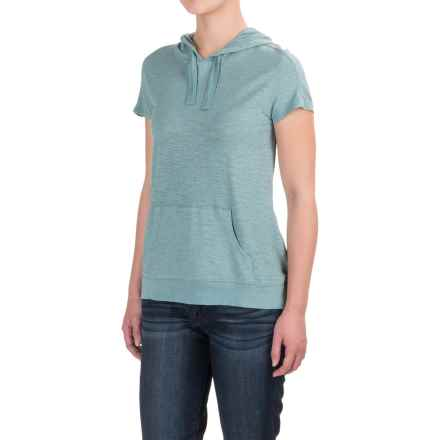 Gramicci Ziggy Hooded Shirt - UPF 20, Short Sleeve (For Women) in Mineral Blue - Closeouts