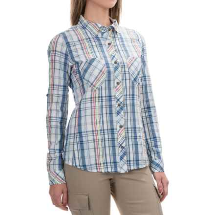 Gramicci Zuma Plaid Convertible Shirt - Long Sleeve (For Women) in Indigo - Closeouts