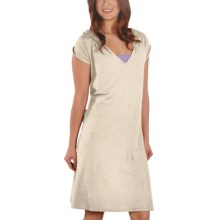 Gramicci Zuri Hoodie Dress - Hemp-Organic Cotton, Short Sleeve (For Women) in Star White - Closeouts