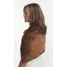 Grampa's Garden Aromatherapy Body Shawl - For Hot or Cold (For Men and Women) in Brown Fleece - Closeouts