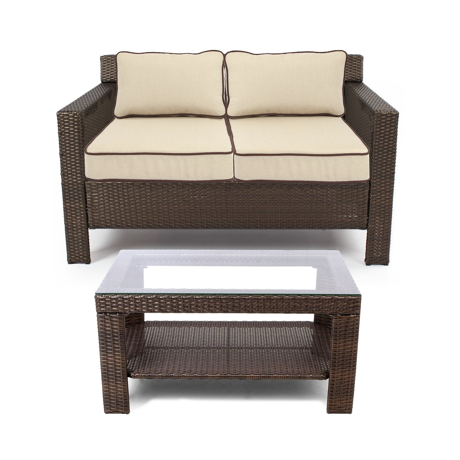 Grand basket company glen cove patio furniture set 5 for Outdoor furniture 5 piece
