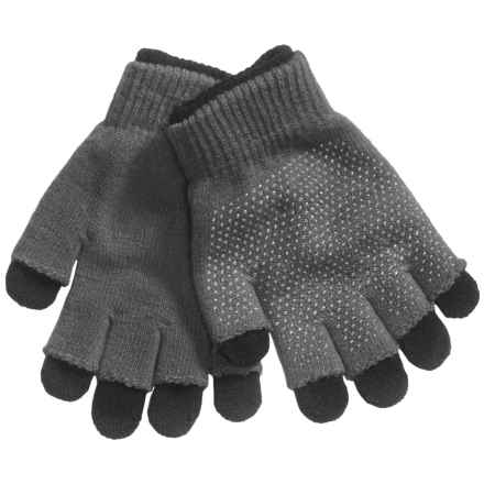 Grand Sierra 2-in-1 Knit Gloves (For Little and Big Kids) in Grey/Black - Closeouts