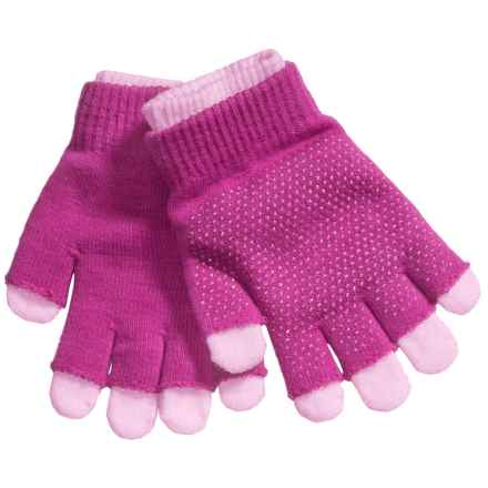 Grand Sierra 2-in-1 Knit Gloves (For Little and Big Kids) in Hot Pink/Light Pink - Closeouts