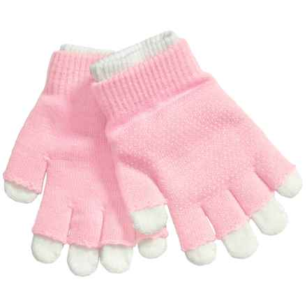 Grand Sierra 2-in-1 Knit Gloves (For Little and Big Kids) in Light Pink/Ivory - Closeouts