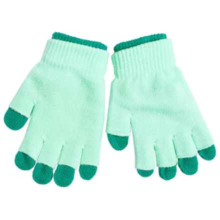 Grand Sierra 2-in-1 Knit Gloves (For Little and Big Kids) in Mint/Turquoise - Closeouts