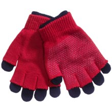 Grand Sierra 2-in-1 Knit Gloves (For Little and Big Kids) in Red/Navy - Closeouts
