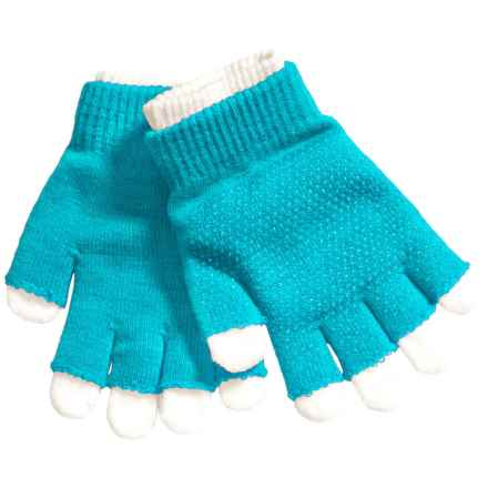 Grand Sierra 2-in-1 Knit Gloves (For Little and Big Kids) in Turquoise/White - Closeouts
