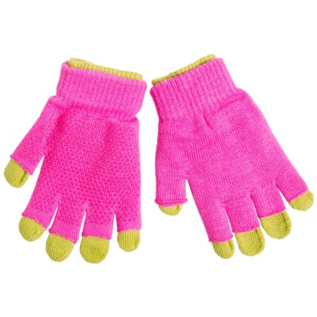 Grand Sierra 2-in-1 Knit Gloves (For Youth) in Hot Pink