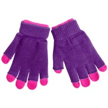 Grand Sierra 2-in-1 Knit Gloves (For Youth) in Purple/Hot Pink - Closeouts