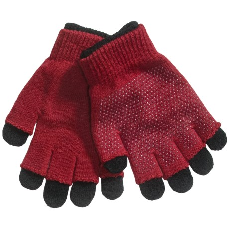Grand Sierra 2-in-1 Knit Gloves (For Youth) in Red/Black