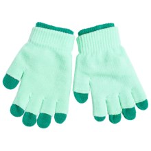 Grand Sierra 2-in-1 Knit Gloves (For Youth) in Turquoise/Green - Closeouts