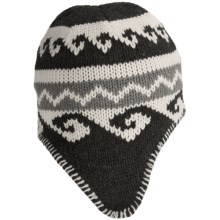 Grand Sierra Acrylic Jacquard Knit Hat - Fleece Lined (For Men) in Charcoal/White - Closeouts