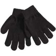 Grand Sierra Chenille Stretch Gloves (For Girls) in Black - Closeouts