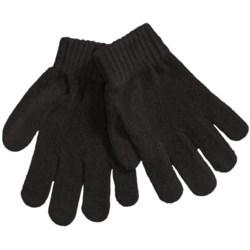 Grand Sierra Chenille Stretch Gloves (For Girls) in Black