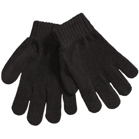 Grand Sierra Chenille Stretch Gloves (For Girls) in Black