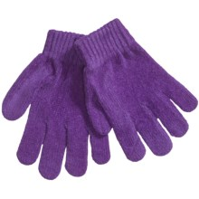 Grand Sierra Chenille Stretch Gloves (For Girls) in Purple - Closeouts