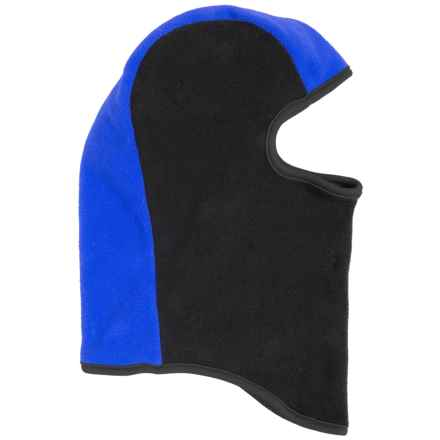 Grand Sierra Color-Block Fleece Balaclava (For Little Boys) in Black/Blue - Closeouts