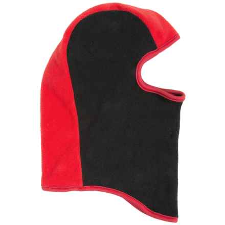 Grand Sierra Color-Block Fleece Balaclava (For Little Boys) in Black/Red - Closeouts