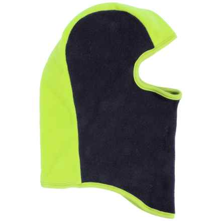 Grand Sierra Color-Block Fleece Balaclava (For Little Boys) in Navy/Lime - Closeouts