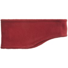 Grand Sierra Contoured Microfleece Headband - Double Layer (For Men) in Red - Closeouts