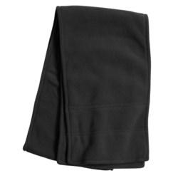 Grand Sierra Double Layer Supersoft Fleece Scarf (For Women) in Black