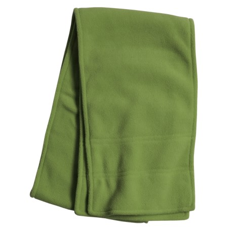 Grand Sierra Double Layer Supersoft Fleece Scarf (For Women) in Green